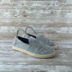Toms Low Canvas Womens 6 Gray Sneaker